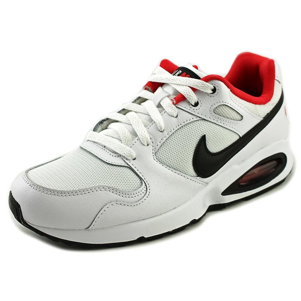 Nike Air Max Coliseum Racer White/Black/Red Men's Running Athletic Shoes  Size 10.5