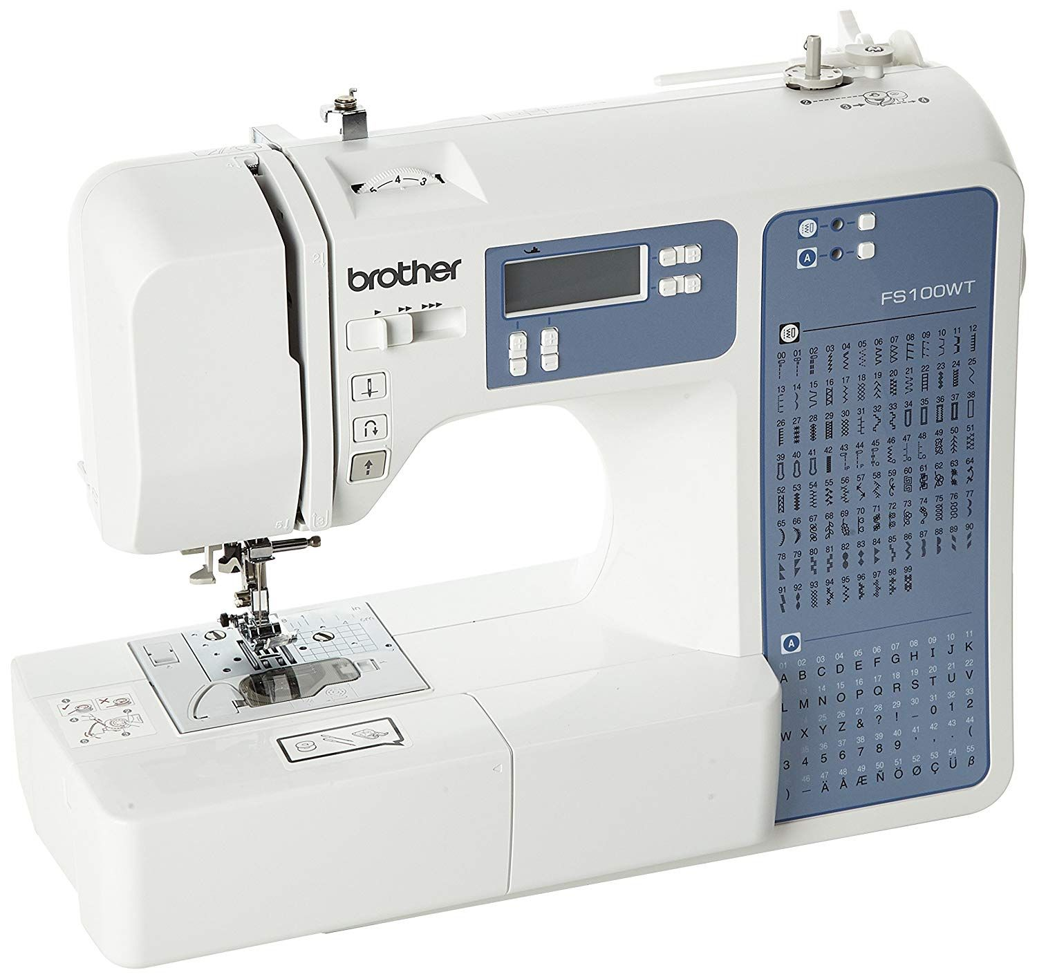 Brother Fs100wt Free Motion Embroidery Sewing And Quilting Machine White Amazon Co Machine Quilting Free Motion Embroidery Brother Sewing Machines