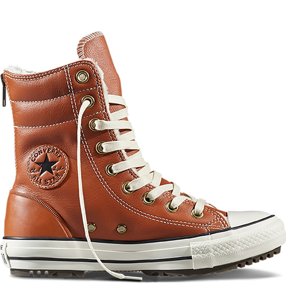 Chuck Taylor All Star Hi-Rise Boot Leather + Fur Antique Sepia antique  sepia/ · Converse HighConverse Chuck TaylorShoes ...