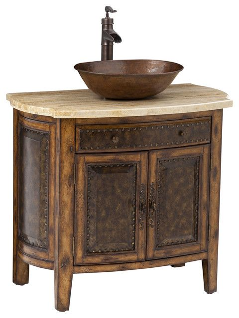 Rustico Vessel Sink Chest Traditional Bathroom Vanities And Consoles Ambella Home