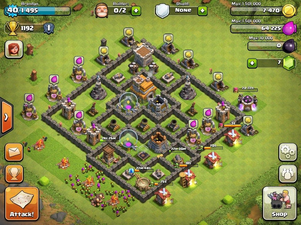 Top 10 Clash Of Clans Town Hall Level 7 Defense Base Design Clash Of Clans Clan Town Hall