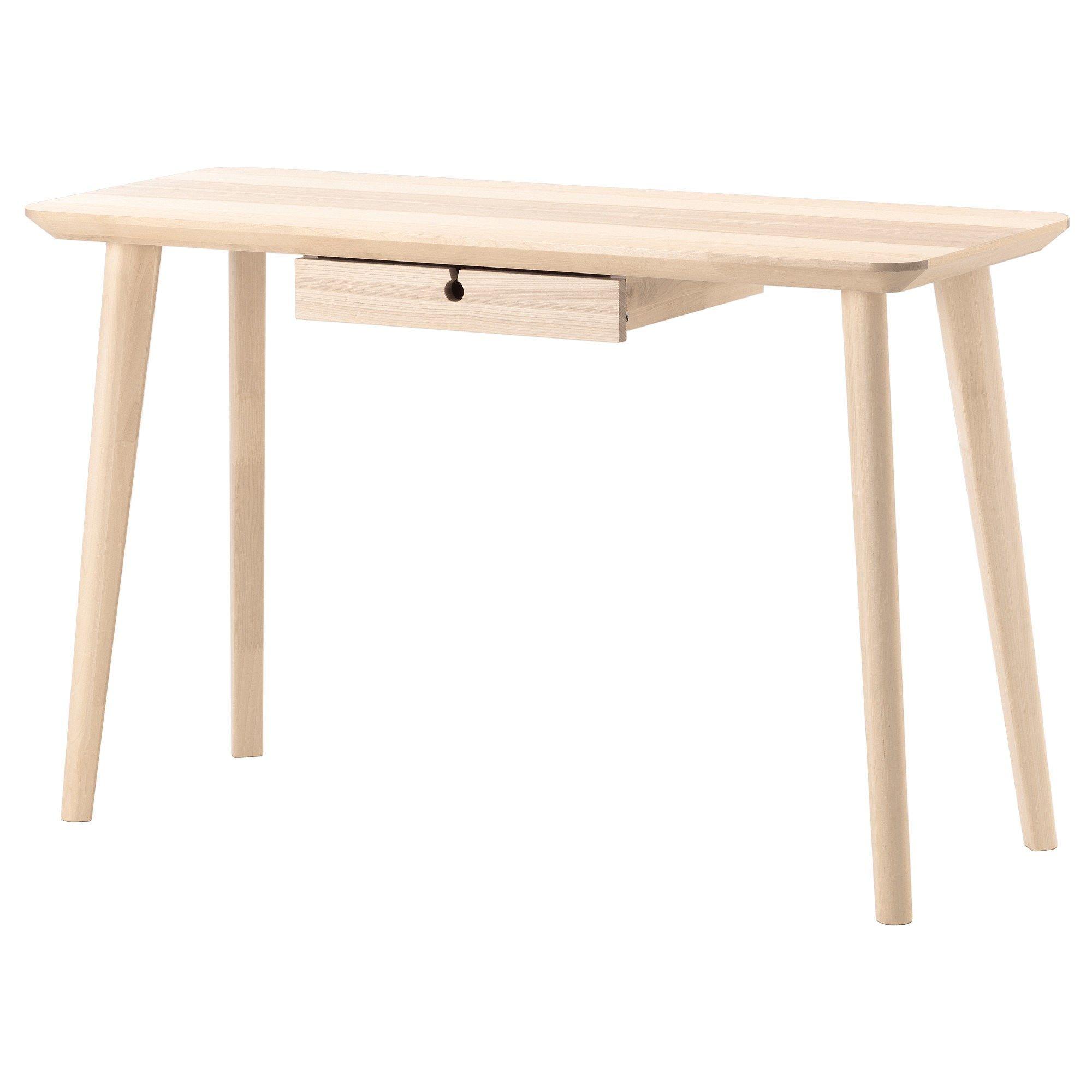 LISABO çalışma masası dişbudak kaplama 118x45 cm   IKEA Çalışma ...