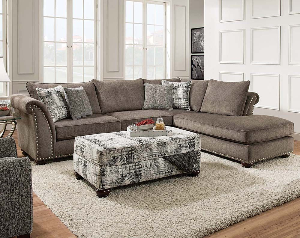 Cornell Pewter 2 PC Sectional Sofa  new house ideas  Sectional sofa Furniture Living room