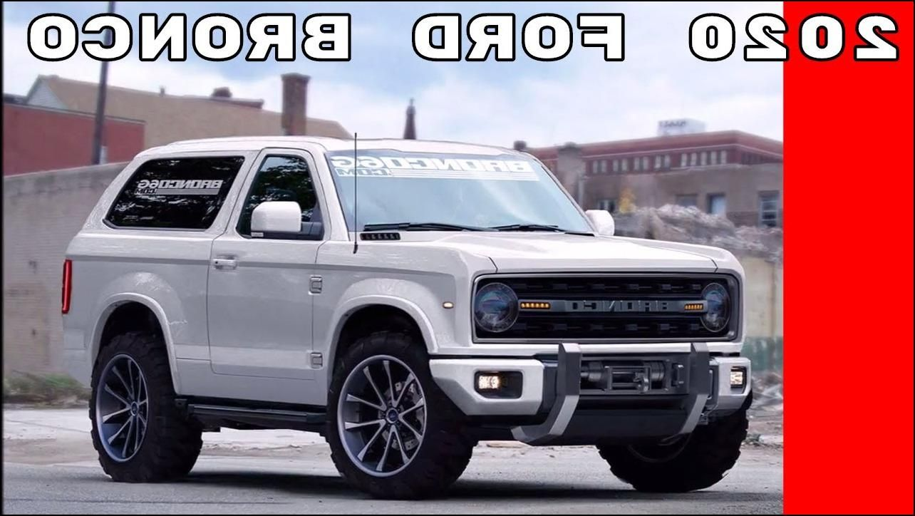 2019 Ford Bronco Detroit Auto Show Review 2019ford Pertaining To