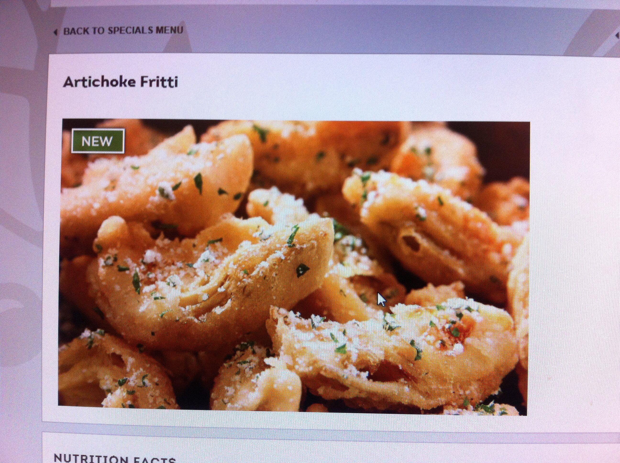 Olive Garden Artichoke Fritti. Wonderful!!!! Artichoke