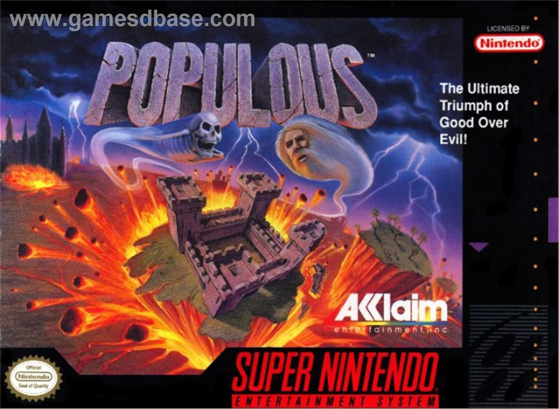 Populous. Super nintendo, Nintendo, Retro gaming