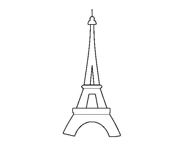 Eiffel Tower Outline Coloring Page Eiffel Tower Outline Coloring Page Online Coloring Pages Eiffel Tower Coloring Pages