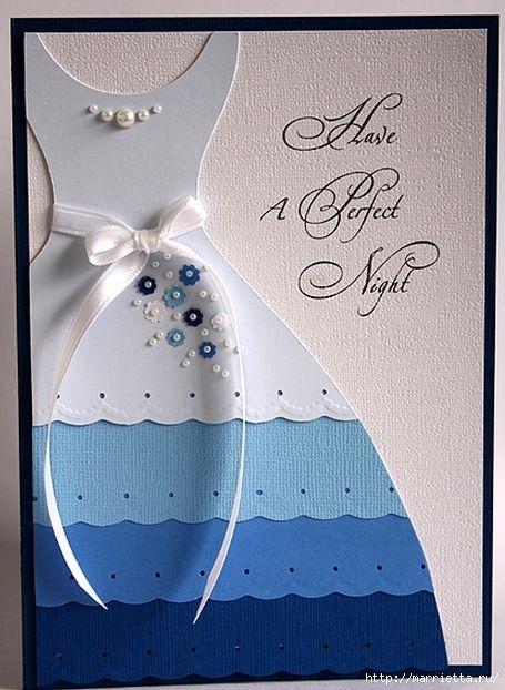 платья из бумаги своими руками для открытки с днем рождения планируется