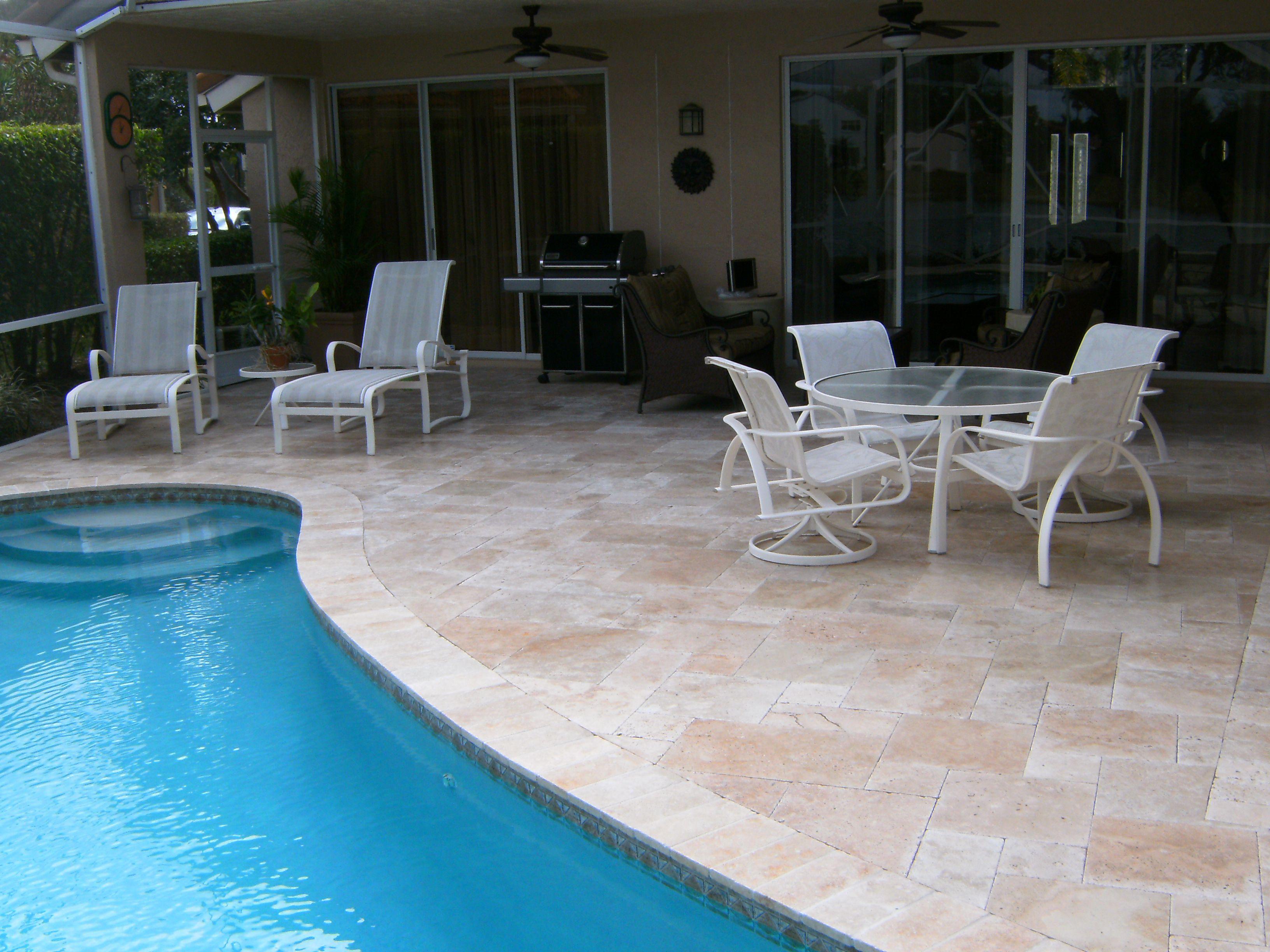 noce travertine pool decking Pool Decking