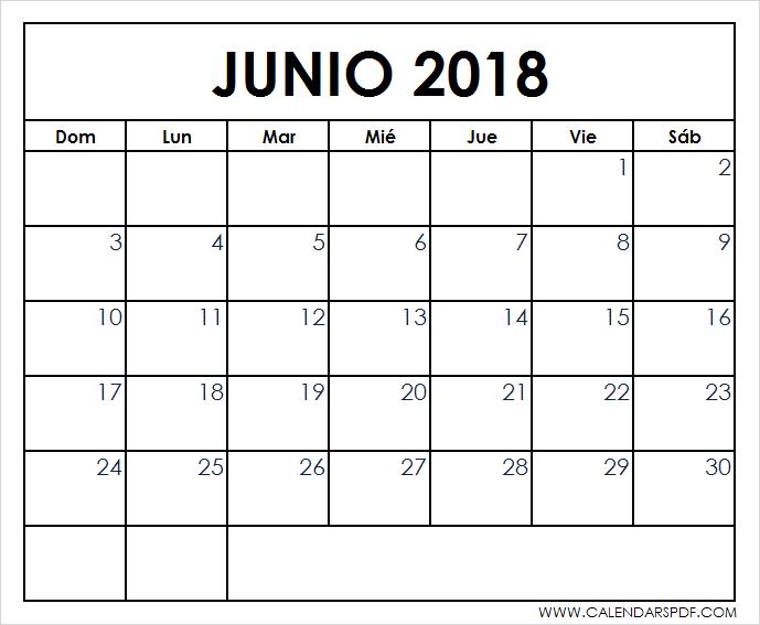 print spanish june 2018 calendar free 2018 calendar spanish pdf template spanish