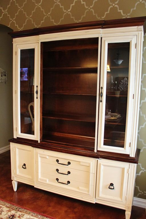 Idea For Mine Diy For The Home Painted China Cabinets Antique