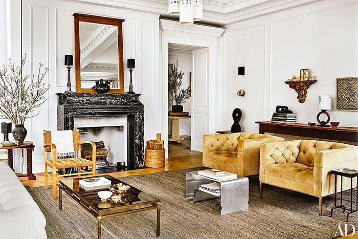Salón de estilo clásico.