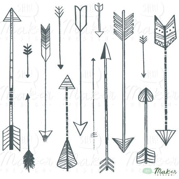 Pretty Vintage Arrow Clipart