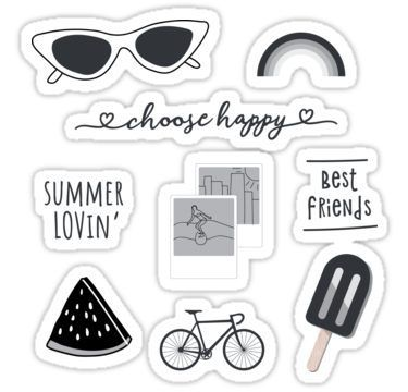 Black And White Sticker Pack Sticker By The Goods Black And White Stickers Print Stickers Printable Stickers
