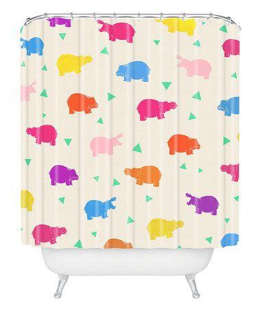 Look At This Zulilyfind Kangarui Happy Hippo Shower Curtain