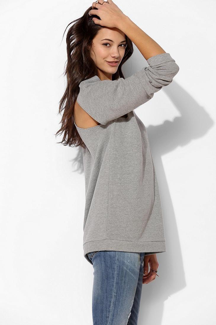 byCORPUS Cutout Oversize Pullover Sweatshirt #urbanoutfitters