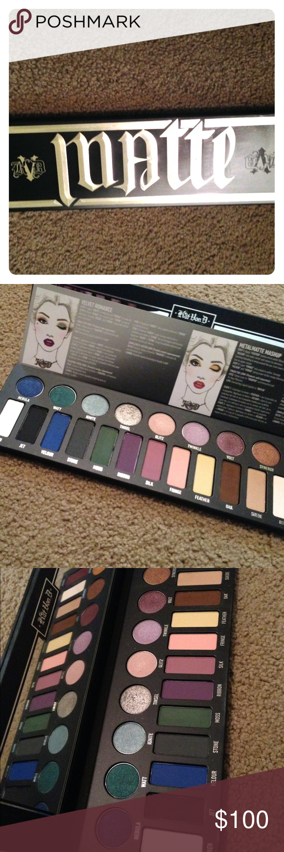 Kat Von D Metal Palette 🎨 Limited Edition Authentic Kat Von D Palette! Brand New never used only swatched! Price is firm open to reasonable offers! Kat Von D Makeup Eyeshadow