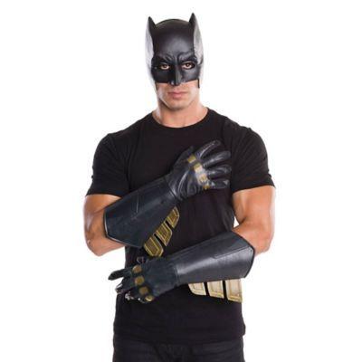 ADULT SUPERHERO HERO SUPERMAN BATMAN SUPER VILLIAN COSTUME GLOVES GAUNTLETS