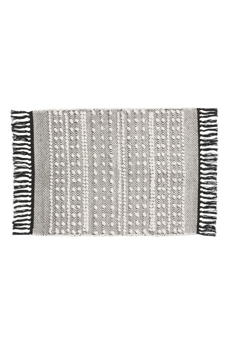 Jacquard Weave Bath Mat White Charcoal Gray Home All H M Us White Bath Rugs Bath Rug Bath Rugs Sets [ 1152 x 768 Pixel ]
