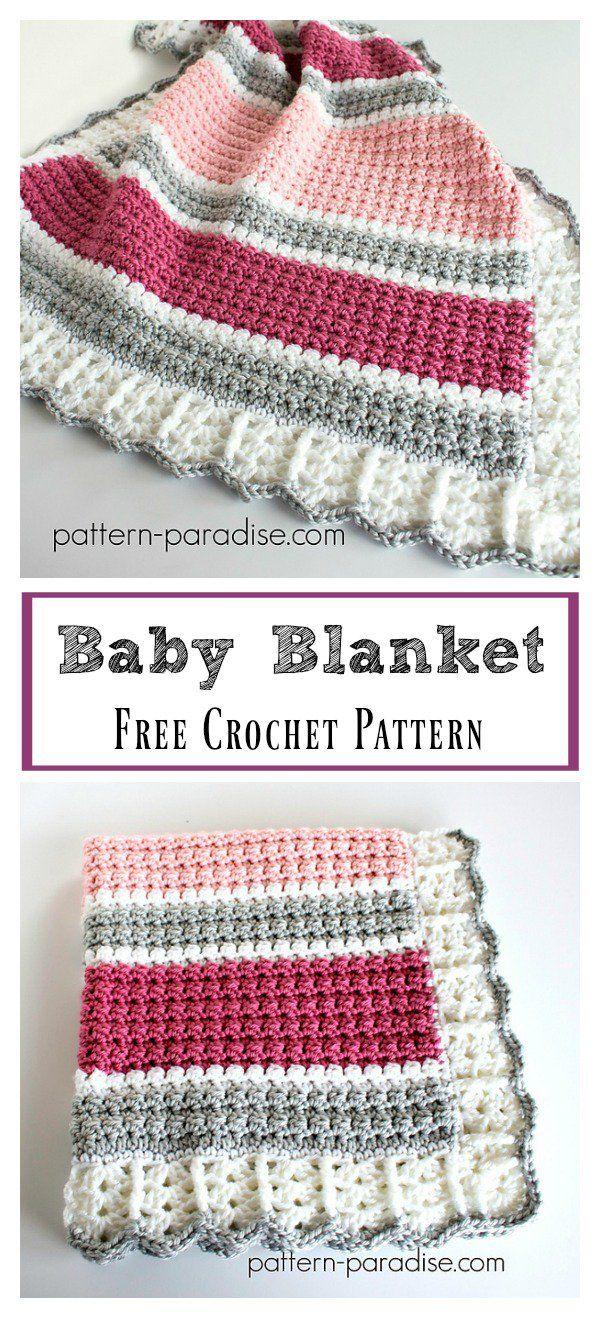 Essentials Baby Blanket Free Crochet Pattern | Crochet-baby ...