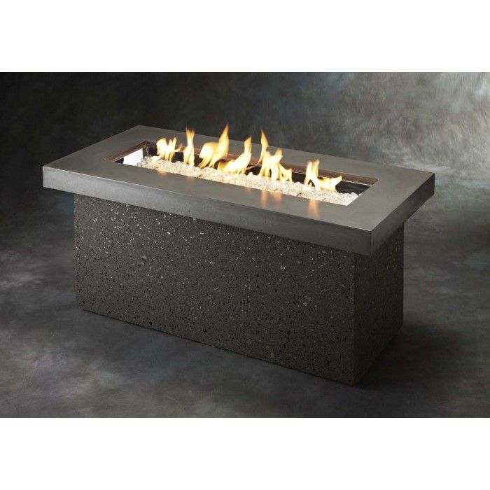 The Outdoor Greatroom Company Kl Sc Key Largo Fire Pit Supercast 19 625x48 Inches Fire Pit Table Fire Pit Patio Fire Table