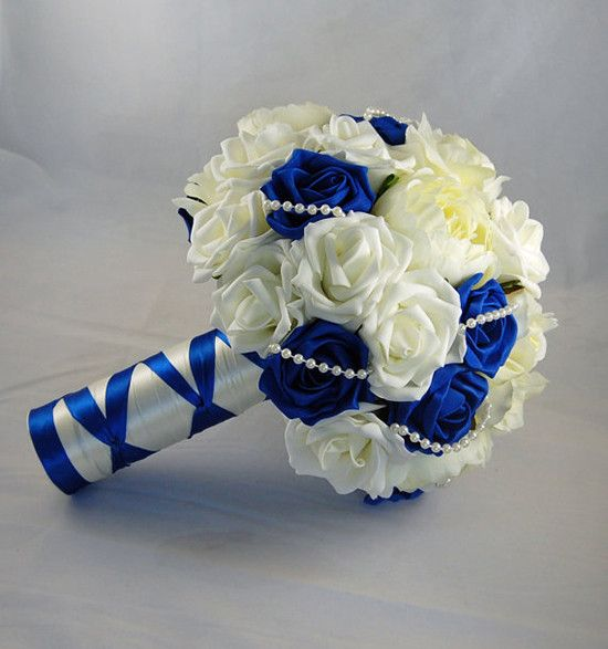 Bouquet Sposa Con Rose Bianche E Blu.Bouquet In Tessuto E Stoffa I Modelli Piu Originali