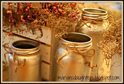 Marvin's Daughter | Painted jars, Chrome spray paint, Diy ...