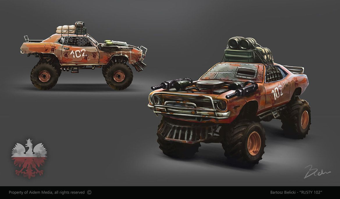 Rudy 102 post apocalyptic vehicle concept by bartekgraf on deviantart