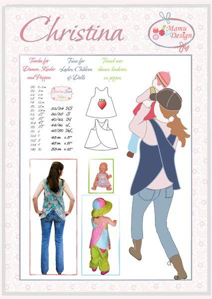 Kleider & Schürzen - Schnittmuster Hängerchen Schürzenkleid Christina - ein Designerstück von mamudesign bei DaWanda