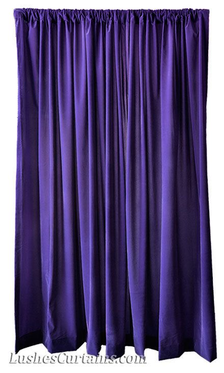 Purple Velvet 120 Inch Long Curtain Panel Large By Lushescurtains