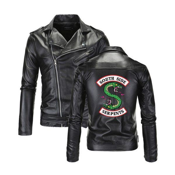 Southside Serpents Riverdale Damen Lederjacke Print Mantel Motorrad Sweatshirt