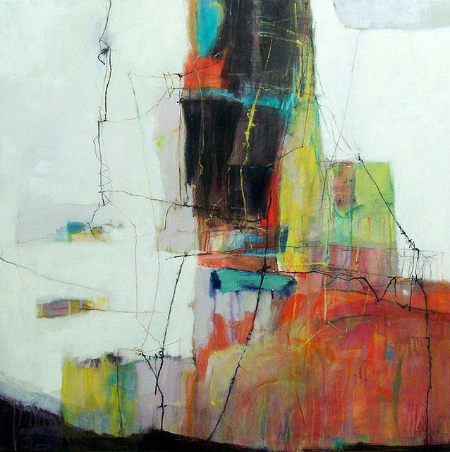 """preparations by anne-laure djaballah 3 6x36"""", oil/mixed media on canvas www.flickr.com/..."""