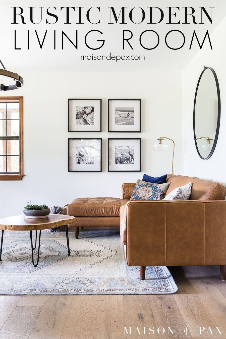 Mid Century Modern Meets Rustic Farmhouse In This Little Living