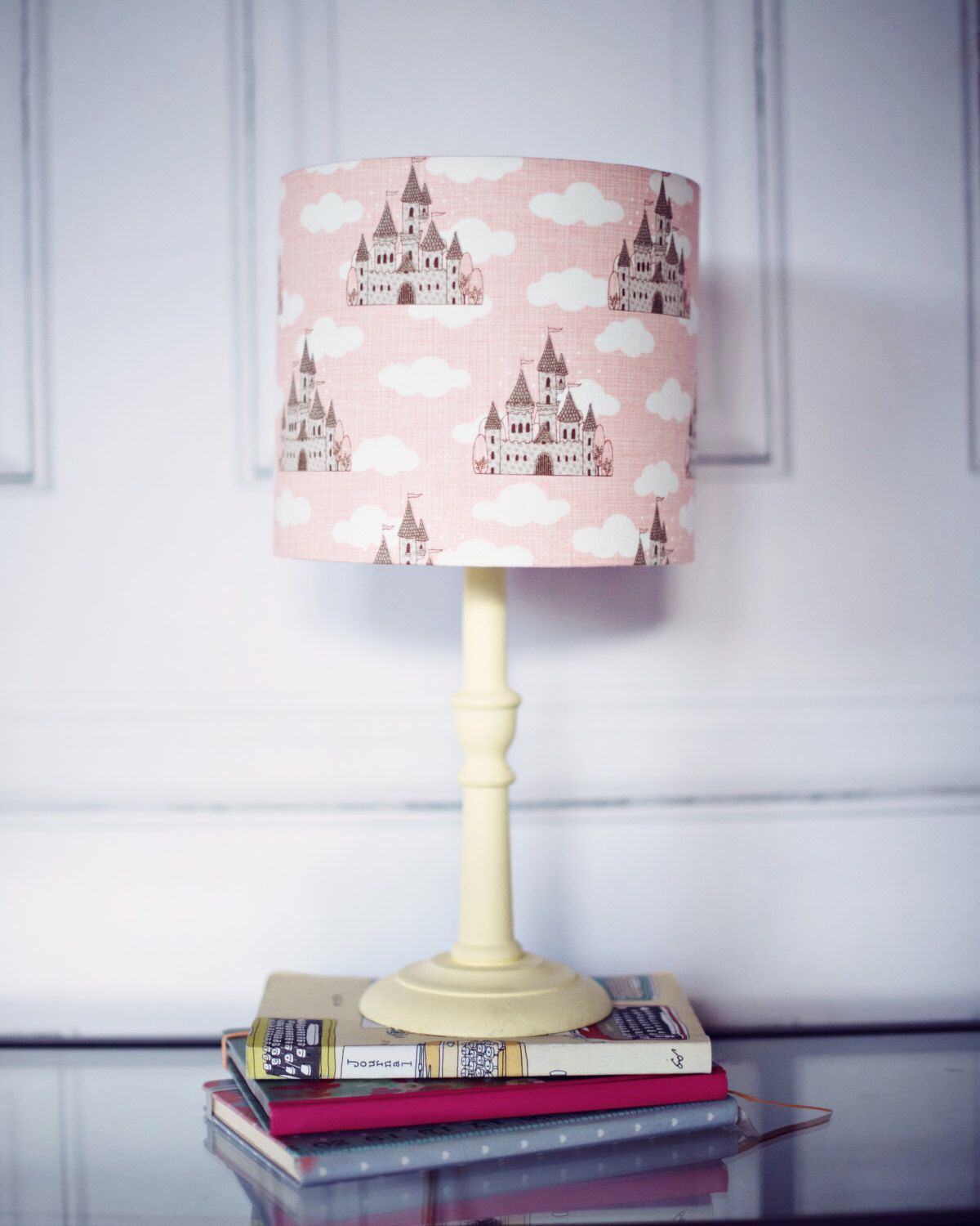 Castle Nursery Lamp S Room Decor Cloud Lampshade Pink