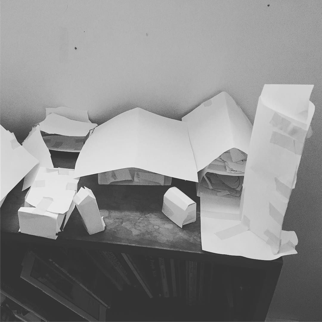 Kids #prototyping a new farm design with paper.