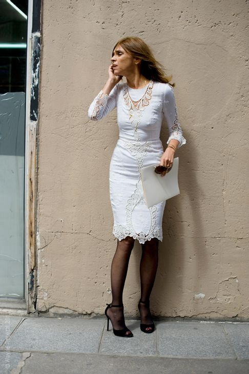 This Dolce and Gabbana Spring 2011 (perfect collection) dress on Carine Roitfield... <3