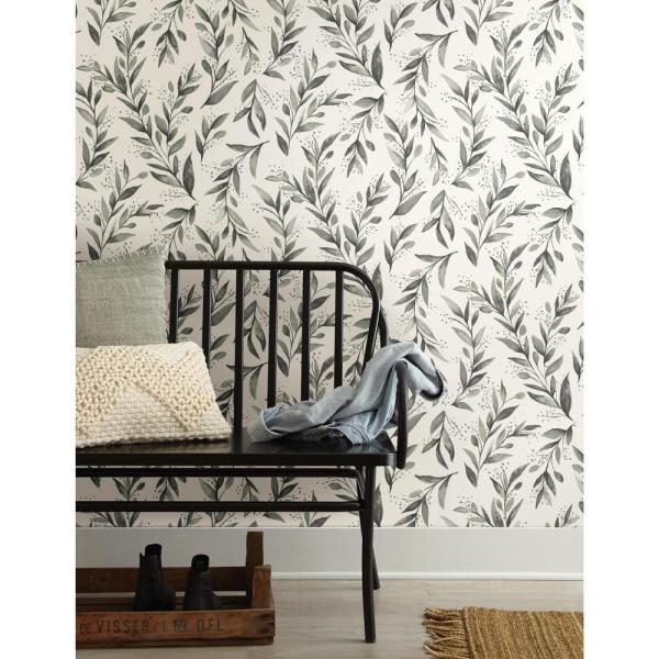 Magnolia Home By Joanna Gaines Olive Branch Paper Strippable Wallpaper Covers 56 Sq Ft Me1537 The Home Depot Home Wallpaper Magnolia Homes Peel And Stick Wallpaper