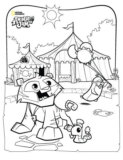 Animal Jam Coloring Pages | The Daily Explorer | How to draw | Pinterest