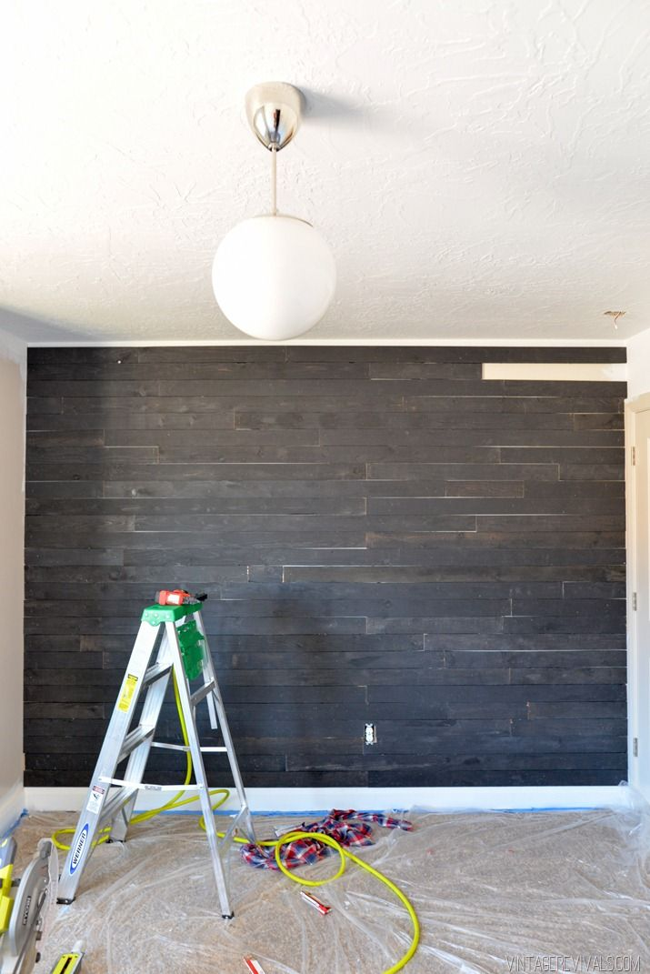 e to the Dark Side JoJo How to DIY Black Shiplap