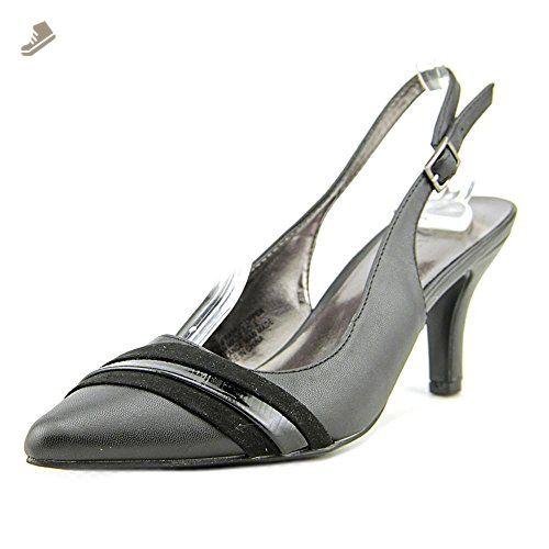 Karen Scott Ginaa Women US 7.5 Black Slingback Heel - Karen scott pumps for women (*Amazon Partner-Link)