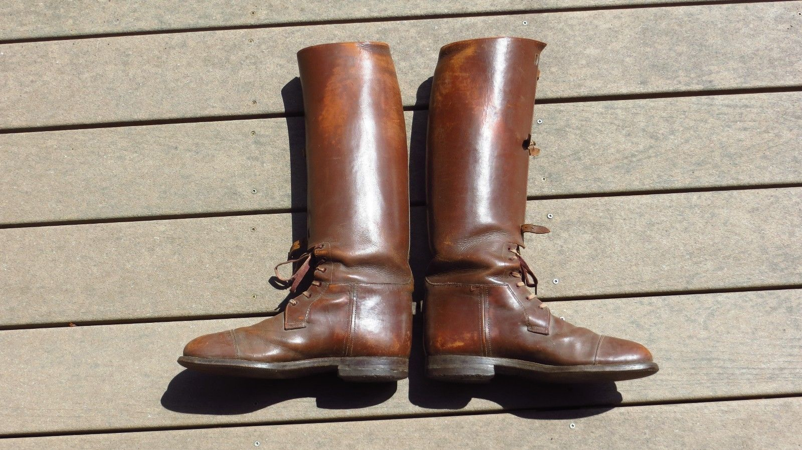 ebb44415727 Details about WW2 US Army Boots Men's 11 Cavalry Officer Riding ...