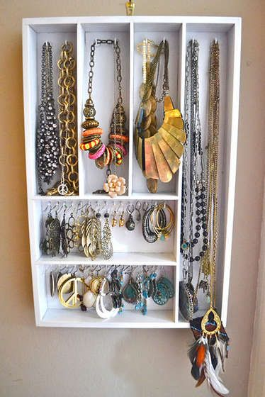 Hanging Jewelry Organizer From Utensil Holder Hanging jewelry