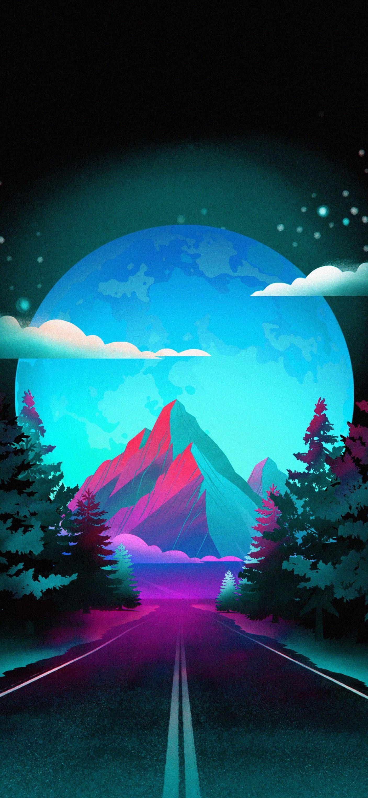 Mountain Road in 2020 Inspirational phone wallpaper
