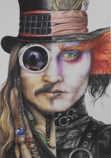 Johnny Depp Character Collage