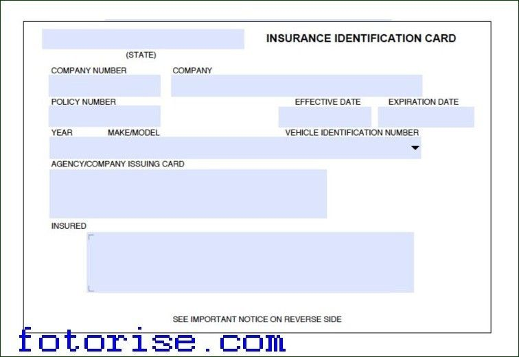 Car Insurance Card Template Download Fotorise Intended For Car