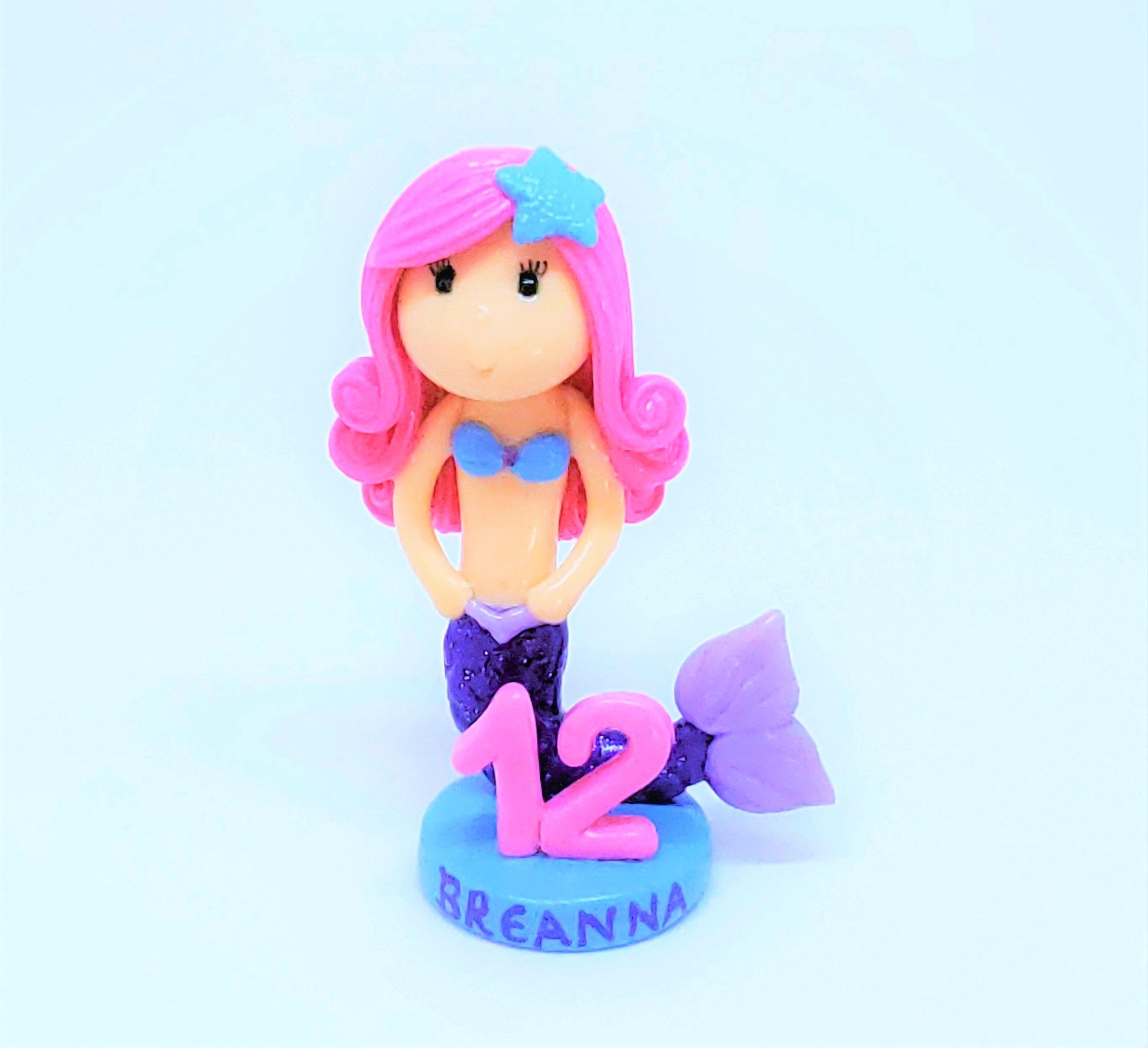 Custom little mermaid figurine little mermaid cake