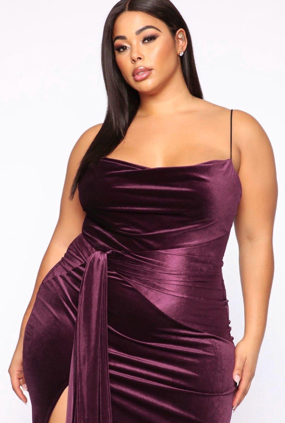 Fashion Nova Dress On Mercari Velvet Maxi Dress Purple Dress Purple Maxi Dress [ 1782 x 1200 Pixel ]