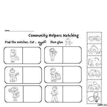 Community Helpers Activity Sheets Community Helpers Community Helpers Kindergarten Community Helpers Activity