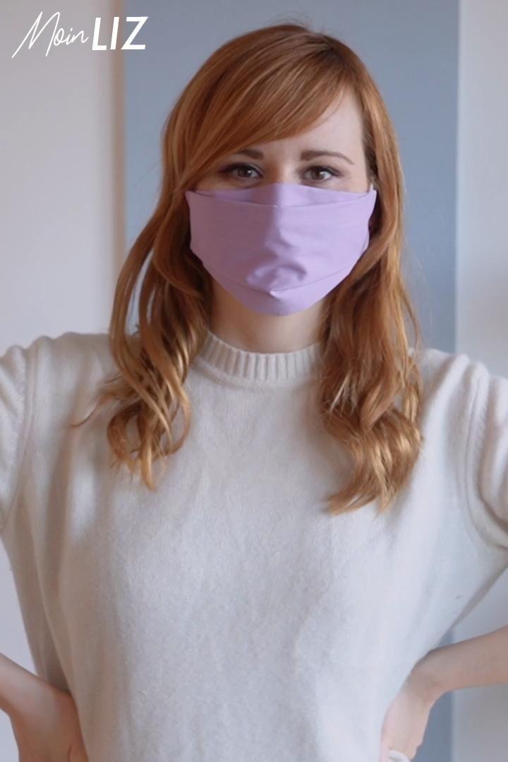 5 Minuten Behelfs- Mundschutz nähen mit Filtertasche, ohne Draht