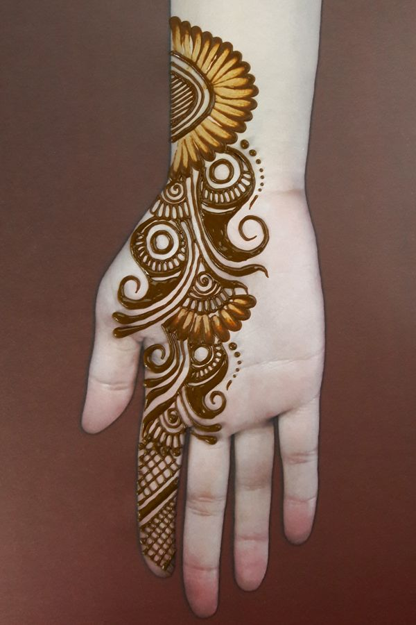 easy front hand mehndi designs for girls